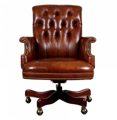 tufted leather executive office chair with regard to