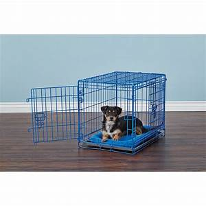 you me 2 door training crate blue petco With small dog training crate
