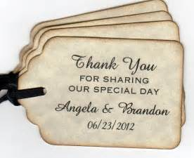 custom wedding gifts 50 personalized wedding favor tags tags gift by luvs2create2