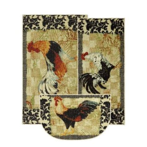 Kitchen Rugs At Home Depot by Mohawk Bergerac Rooster 3 Kitchen Rug Set