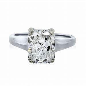 White gold gia certified 200ct radiant cut diamond for Radiant wedding rings
