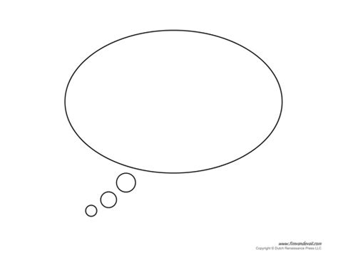 printable thought bubbles   clip