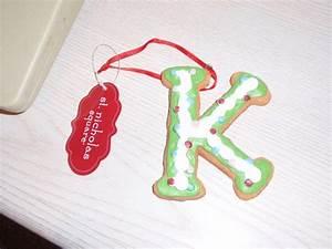 free letter k christmas cookie ornament ne other With letter e christmas ornament