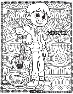 coco  printable coloring pages  kids