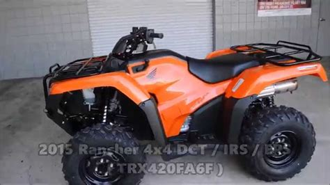 2015 Honda Rancher 420 / Irs Atv Models For Sale