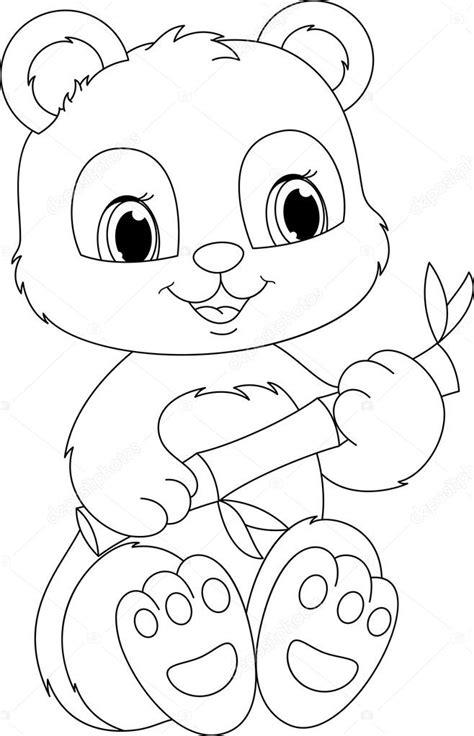 Dierenmasker Kleurplaat Panda by Panda Kleurplaat Stockvector 169 Malyaka 49316099