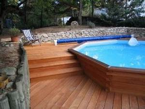 Piscine En Kit Enterrée : kit piscine bois exotique maupiti tekabois ~ Melissatoandfro.com Idées de Décoration
