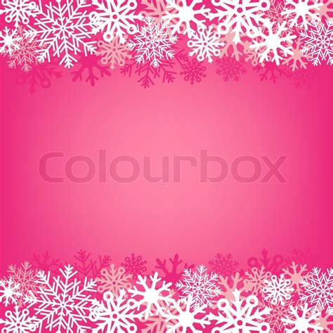 Light Pink Snowflake Background by Light Pink Snow Background On A Winter Theme Stock
