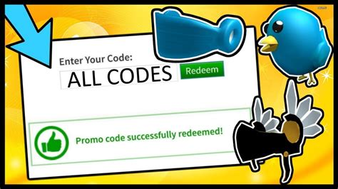 roblox promo codes   youtube