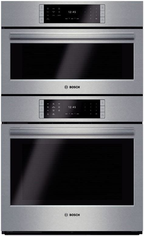 bosch hslpuc   steam combination wall oven   cu ft european convection oven