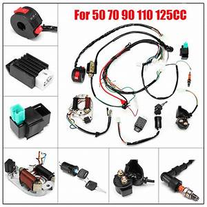 Atv Electric Ignition Cdi Stator Complete Wiring Harness
