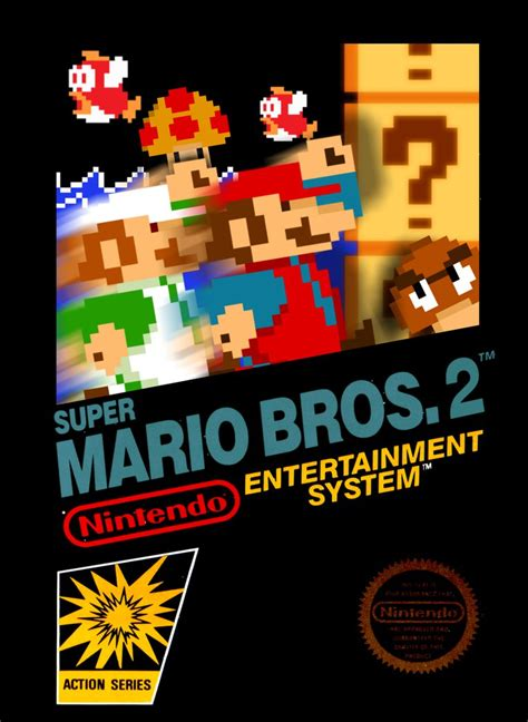 Smb 2 The Lost Levels Nes Box Art Version 2 By