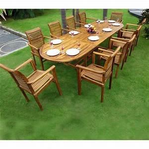 Ensemble Salon De Jardin En Teck En Promotion Table 10