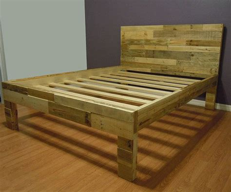 reclaimed wood bed frame pallet bed sale twin size