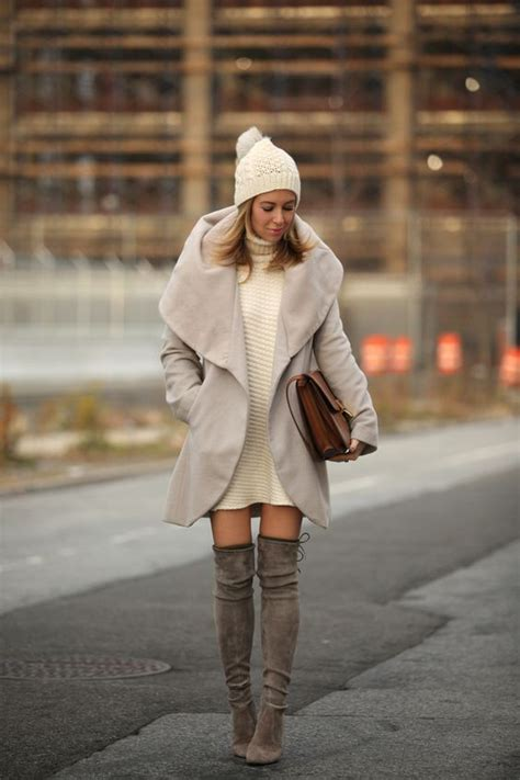sweaters to wear with picture of sweater dress grey th eknee boots