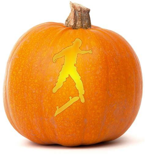skateboard pumpkin carving template