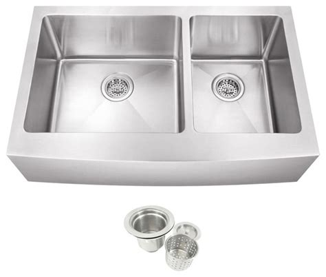 60 40 stainless steel sink stainless steel undermount farmhouse 60 40 double bowl