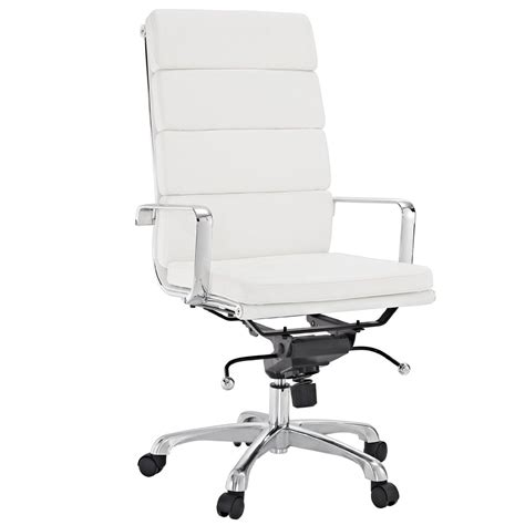 white office chair amazon amazon com modway discovery high back conference office