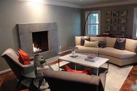 clean neutral modern modern living room st louis