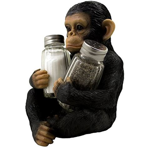 monkey kitchen accessories decorative monkey glass salt and pepper shaker set with 4270