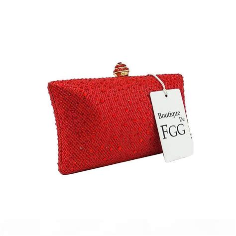 Designer Dazzling Red Ruby Crystal Women Evening Clutch ...