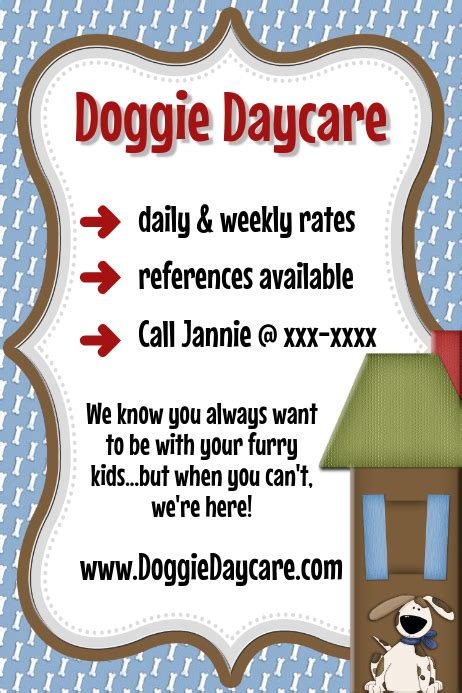 pet sitter dog daycare event flyer template poster dogs
