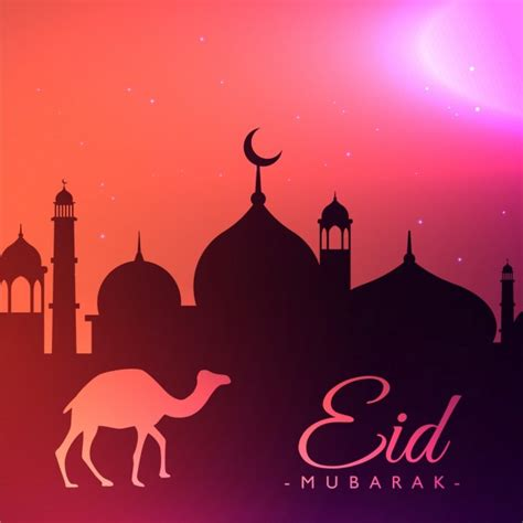 eid festival greeting background vector