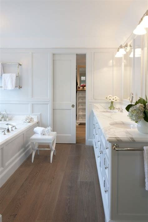 hardwood floors for bathrooms white bathroom wood floors dream home ideas pinterest