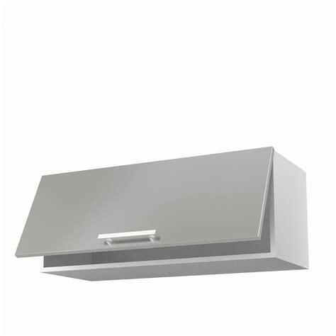 store cuisine moderne meuble de cuisine haut gris 1 porte délice h 35 x l 90 x p