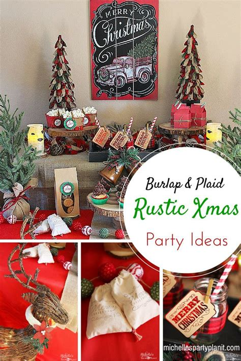 easy rustic christmas party decor  dessert table