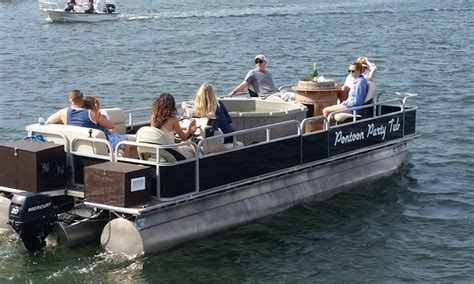 Pontoon Boats Pics by Tub Pontoon Boat Charter Pontoon Tub Groupon