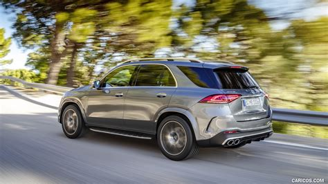 We might be nitpicking, but at this price level, we really think keyless go, heated front seats, metallic paint and the. 2020 Mercedes-AMG GLE 53 4MATIC+ (Color: Selenite Grey) - Rear Three-Quarter   HD Wallpaper #3 ...