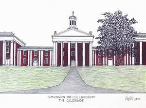 Washington And Lee University Drawing by Frederic Kohli