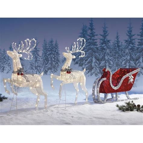 reindeer sleigh lawn decorations for christmas 247 best outdoor snow images on