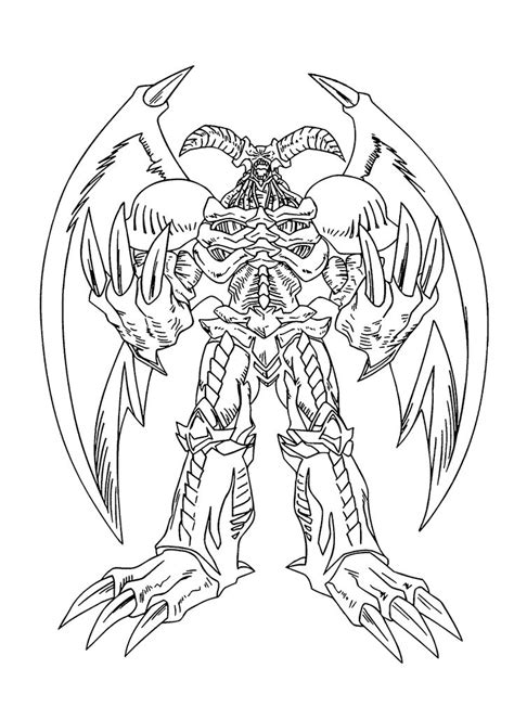 Great Beings from Yu Gi Oh anime coloring pages for kids