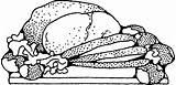 Roast Beef Clip Vector Meat Potatoes Clipart Pork Pig Dinner Cartoon Cliparts Svg Ham Coloring Sketch Drink Pixabay Turkey Clipartpanda sketch template