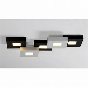 Led Deckenlampe Dimmbar : bopp cubus led deckenlampe schwarz weiss 5 flammig ~ Eleganceandgraceweddings.com Haus und Dekorationen