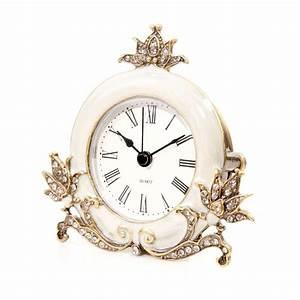 Antique, Cream, Diamante, Decorative, Clock