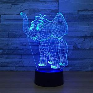 Laser, Cut, Baby, Elephant, 3d, Night, Light, Desk, Lamp, 3d, Optical, Illusion, Lamp, Dxf, File, Free, Download