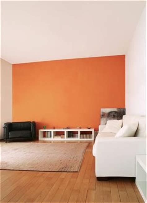 deco salon  pan de mur orange inspirations tollens