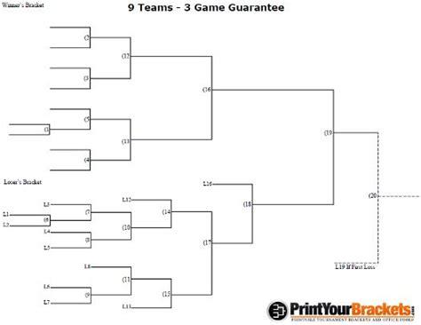 team  game guarantee tournament bracket printable volleyball pinterest game team