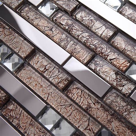 stainless steel swimming pool floor tile blend  mosaic
