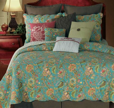 Floral Quilts by King Quilt Jacobean Floral Country Cotton Ebay