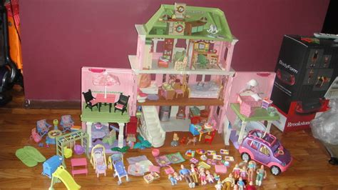 Huge Fisher Price Grand Dollhouse Loving Family Loaded Lot