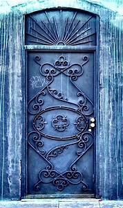 Artsy, Blue, Door, In, Los, Angeles, California