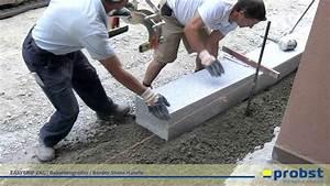 Blockstufen Beton Setzen : probst easygrip exg rabattengreifer beim setzen von granit randsteinen im ortskern von ~ Orissabook.com Haus und Dekorationen