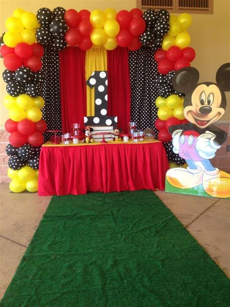 Mickey Mouse Decorations by Black And Yellow Mickey Mouse Birthday See