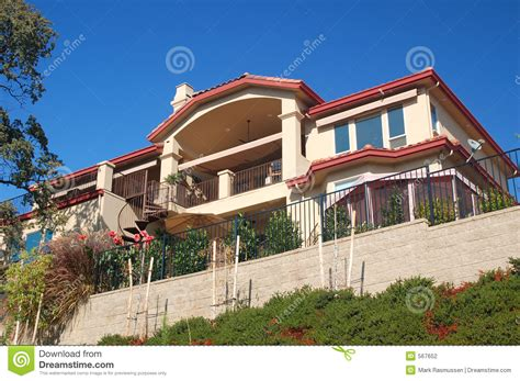 Nice House On Hillside Stock Photo. Image Of View, Spiral