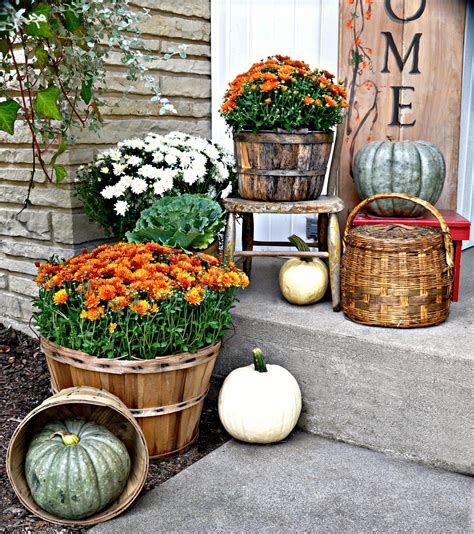 harvest porch decorating ideas serendipity refined blog fall harvest porch decor with reclaimed wood sign