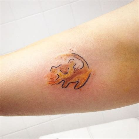simba tattoo lion king tattoos colorful tattoos feminine